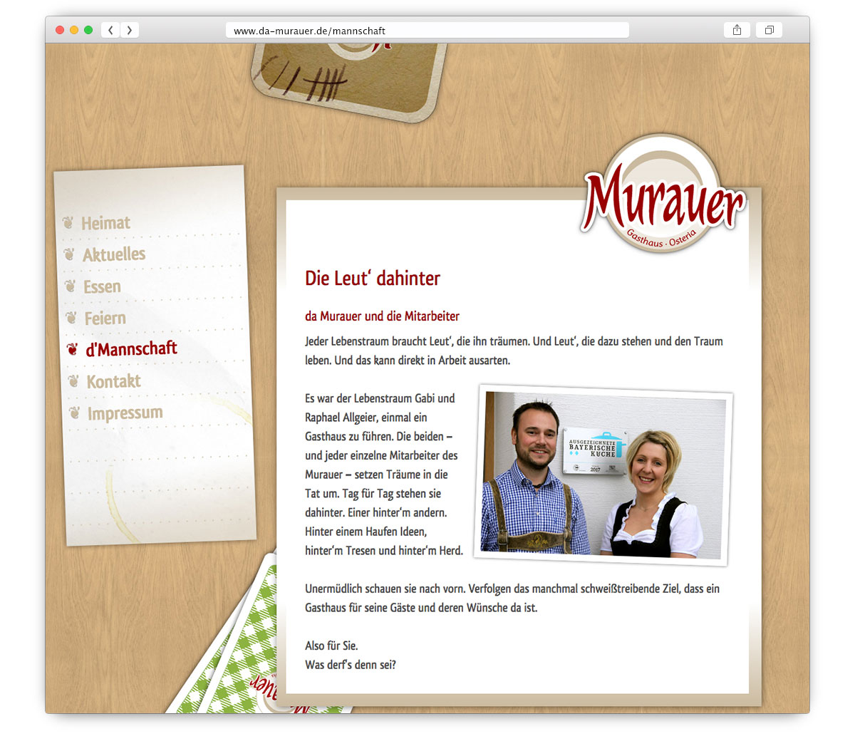 Da Murauer Website
