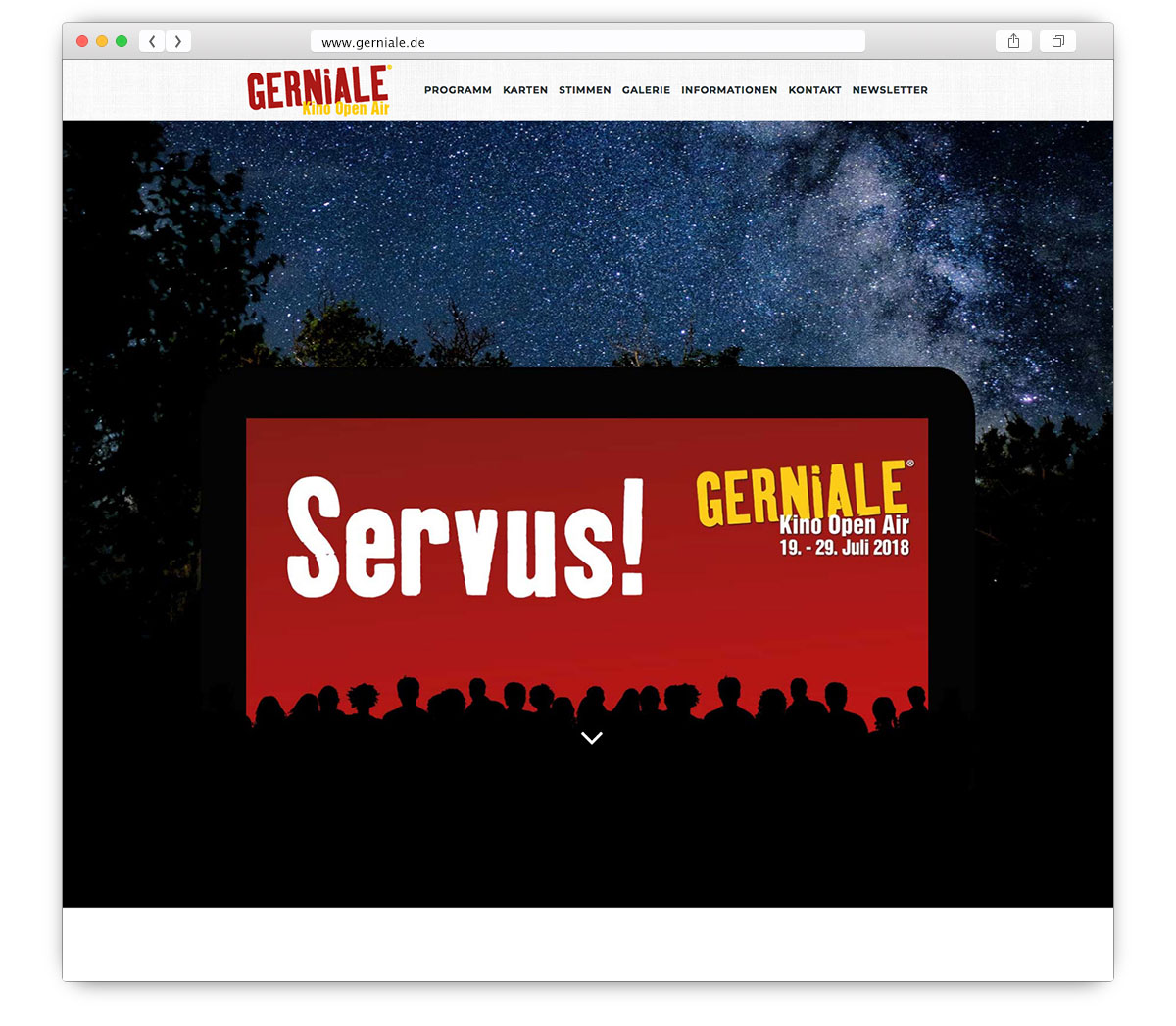 Gerniale Website Home