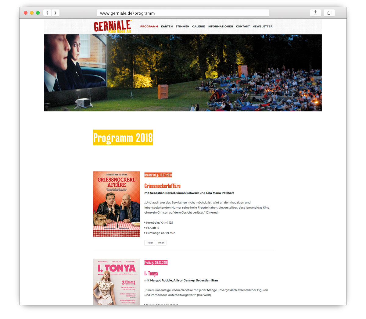 Gerniale Website Programm