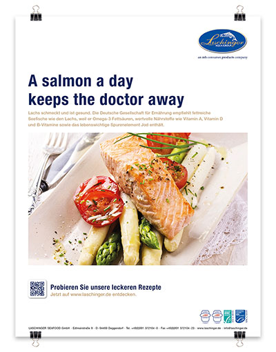 Laschinger Anzeige: A salmon a day keeps the doctor away